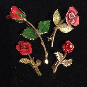 Vintage rose pins